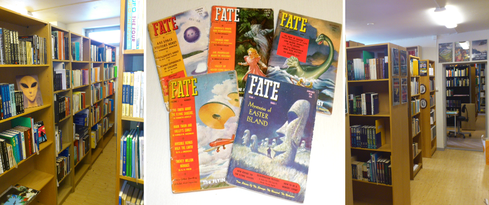 Collage with Fate magazine/locales