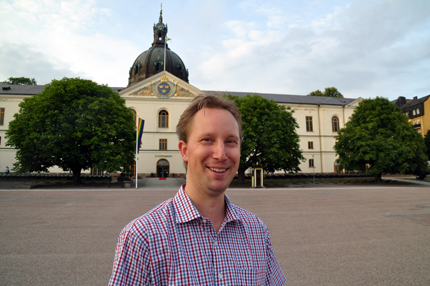 Andreas Ohlsson in front of the Army Museum